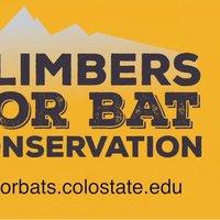 Climbers for Bat Conservation Logo: www.climbersforbats.colostate.edu